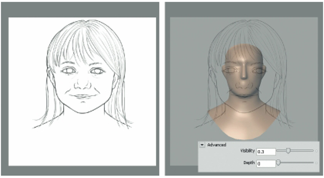 Adjust the Visibility of the Reference Sketch to See the Model.