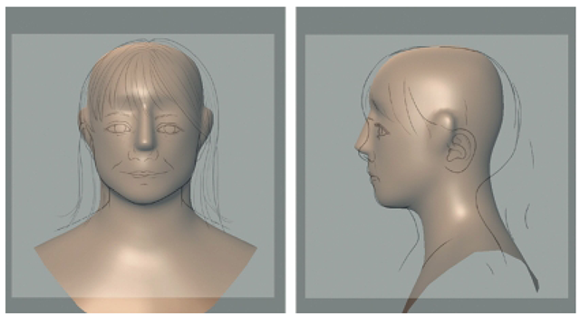 Align the Model with Front and Side Reference Sketches.