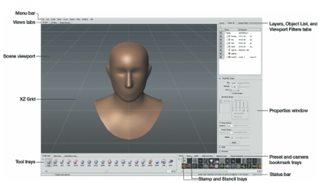 Mudbox Has a Standard, intuitive interface and Straightforward Sculpting and Painting Workflows.