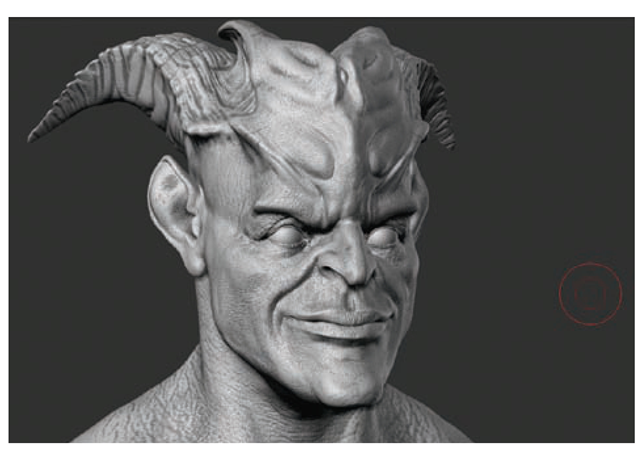 This character head has cavity masking applied.
