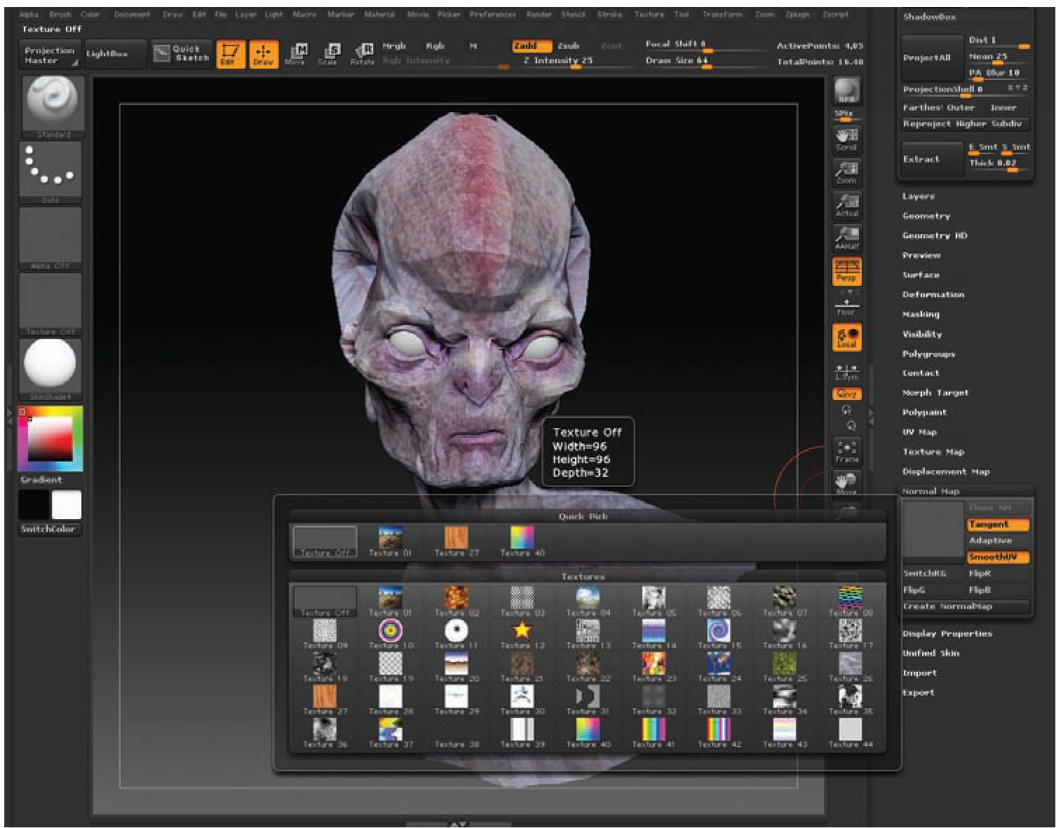 Exporting Directly from ZBrush to Maya Using GoZ (Normal Maps