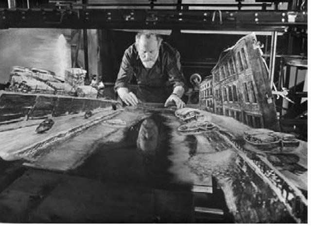 Yuri Norshtein working on The Overcoat.