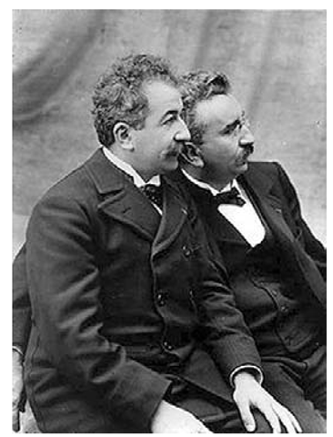 Auguste and Louis Lumiere, circa 1895.