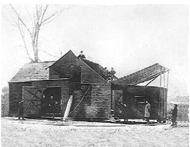 "The ""Black Maria"" studio, circa 1893."