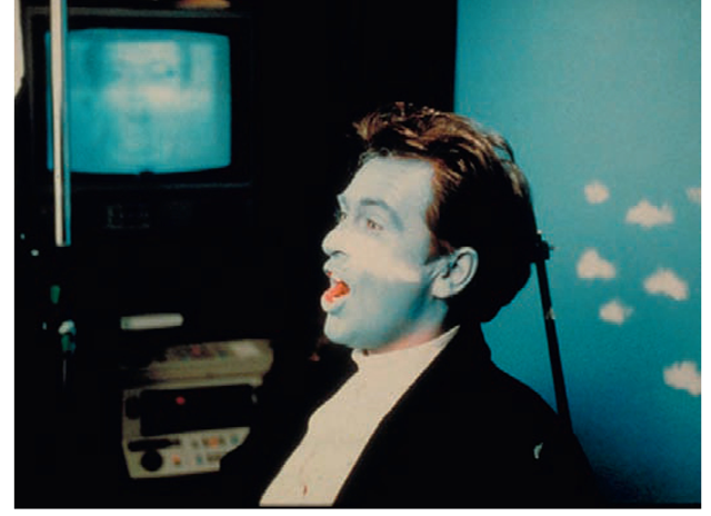 Shot from Peter Gabriel's Sledgehammer, with a support behind Gabriel's head.