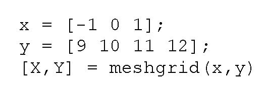 how to create meshgrid matlab