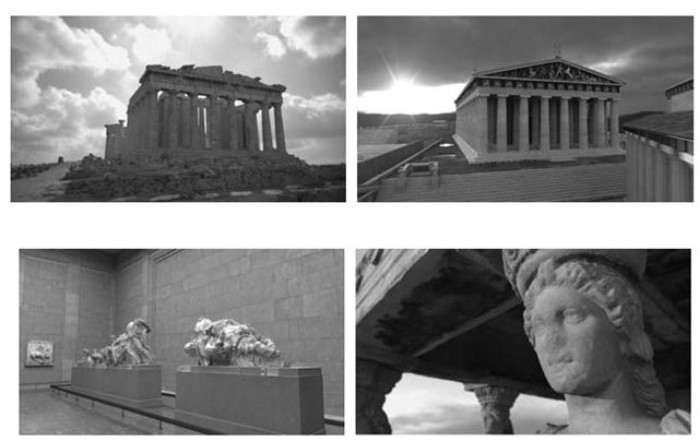 "Some snapshots from ""The Parthenon"" ."