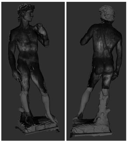 Mapping multiple UV images on the digital 3D model.