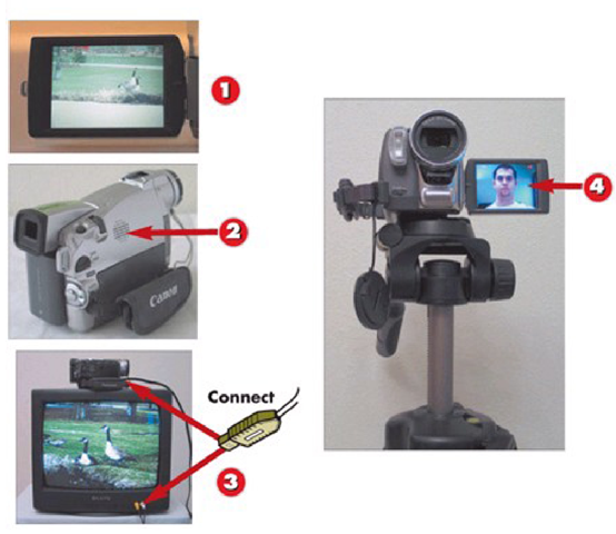 Using the DV Camcorder LCD