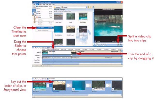 Editing Views in Movie Maker