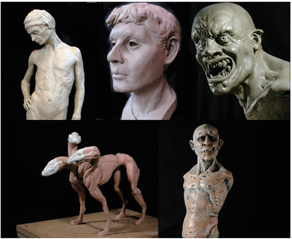 Examples of traditional clay sculpture