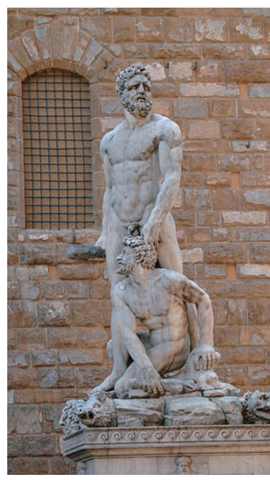 This Hercules from the Piazza della Signoria in Florence, Italy, is an example of bad gesture in an otherwise good sculpture.