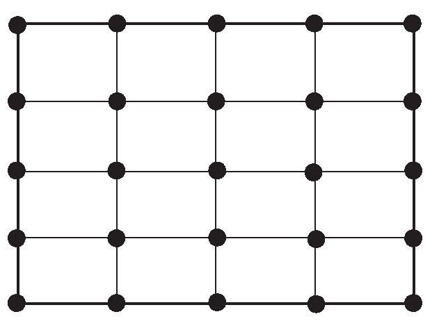 Rectangular domain meshed by rectangular elements.