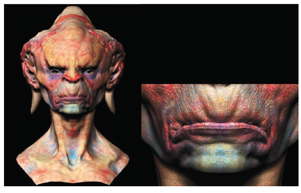 Painting a Creature Skin Texture Painting ZBrush Character