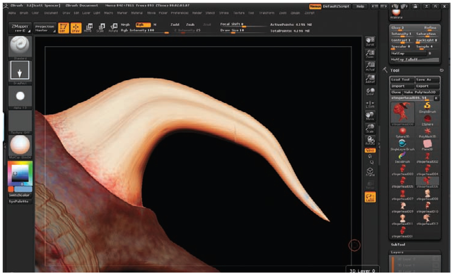Painting a Creature Skin (Texture Painting) (ZBrush Character