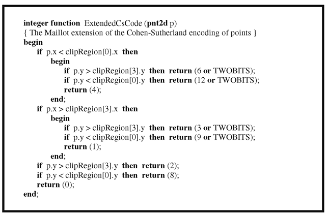 An extended clipping code function.