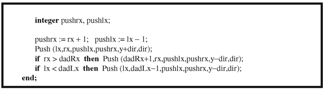 The Fishkin seed fill algorithm.