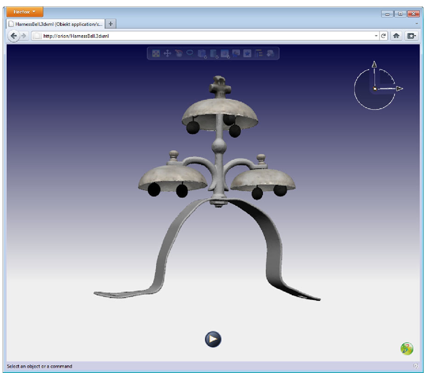 3D XML model displayed in a Web browser with the 3DVIA plug-in