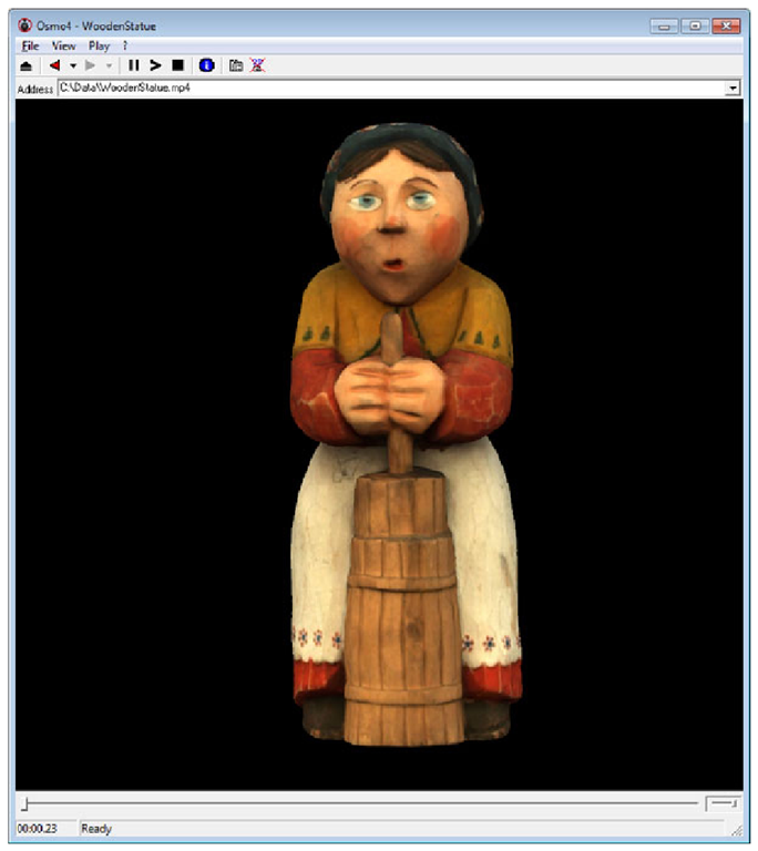 Example of a 3D MPEG-4 scene displayed in the Osmo4 player