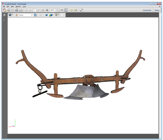 U3D model embedded in a PDF document and displayed in Adobe Reader X
