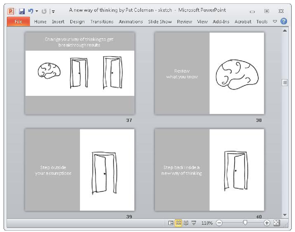 Sketching Your Storyboard (Using Microsoft PowerPoint) Part 4