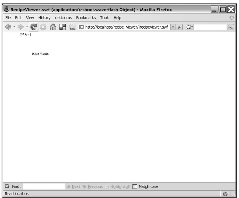 The completed sample application running in a browser served from a local web server