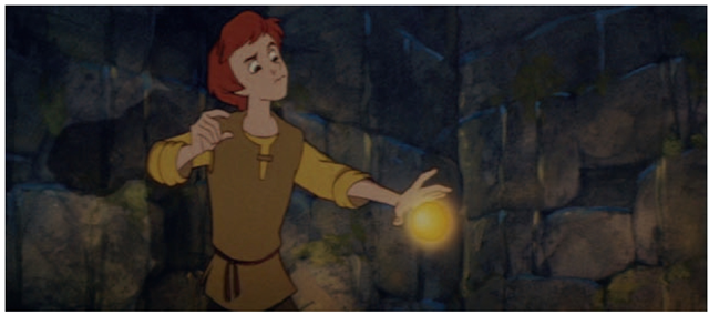 The bauble from Disney's The Black Cauldron was one of the first 3D elements to be combined with 2D animation.