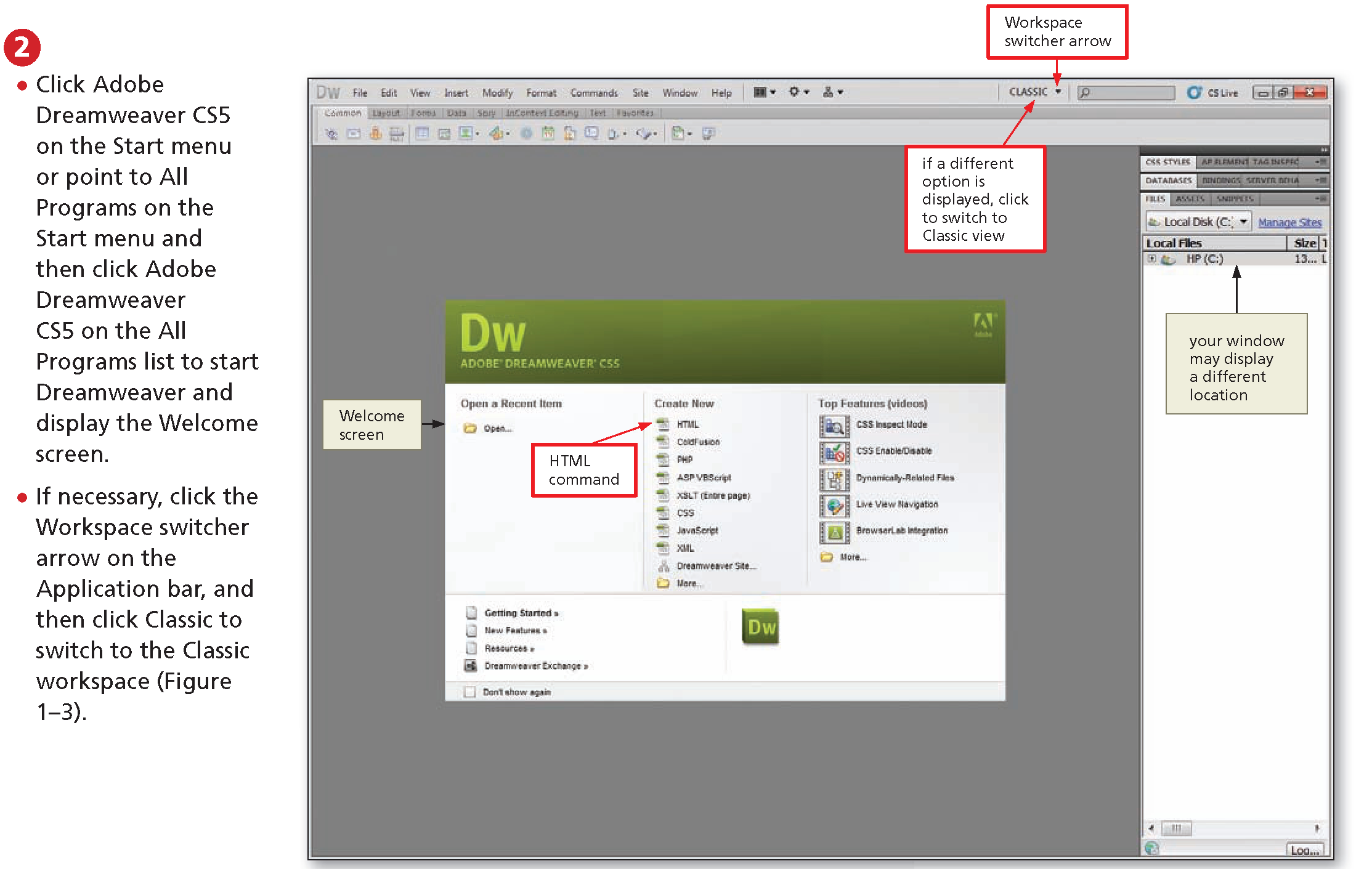 how to create a site in dreamweaver 8