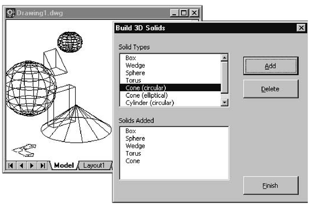 Creating 3D Solids (Creating and Drawing 3D Solids) (AutoCAD