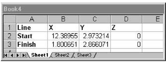 Drawing Lines Excel Vba : Exchange between autocad and excel activex controls