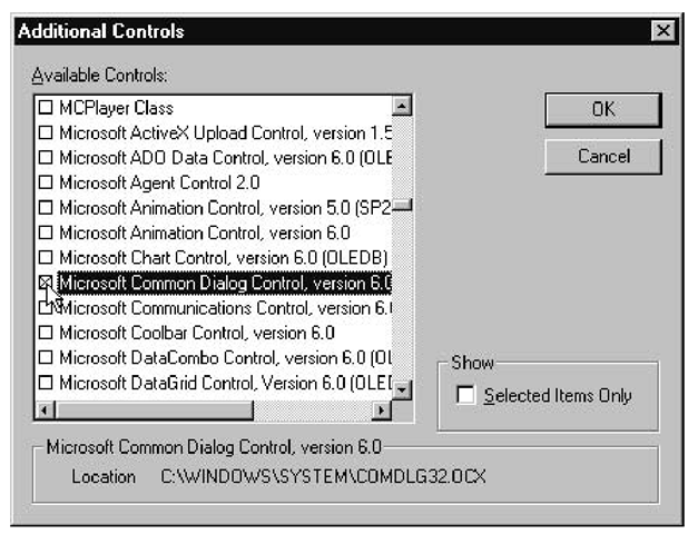 Displaying Open and Save As Dialog Boxes (File Input and
