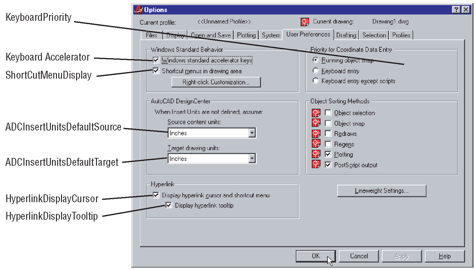 Preferences Object (The AutoCAD Object Model) (AutoCAD VBA)