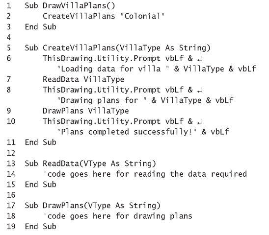 Sending Text to the AutoCAD Command Line (The AutoCAD Object Model