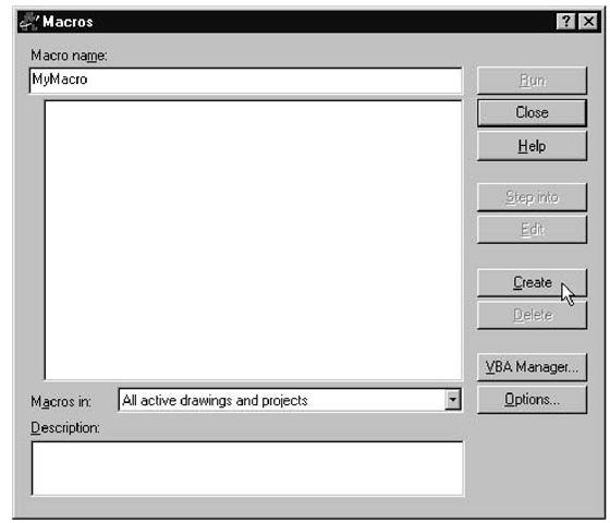 What Is a Macro? (Creating VBA Macros) (AutoCAD VBA)