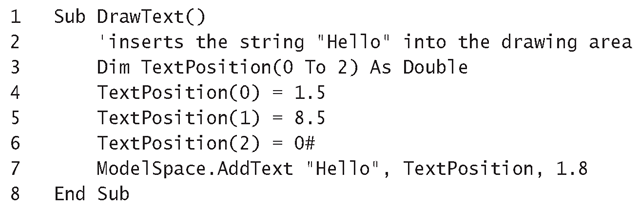 Listing 2.1: Text-Insertion Macro