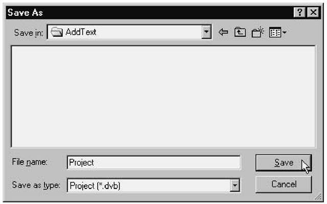 Using the Save As dialog box to save your VBA macro
