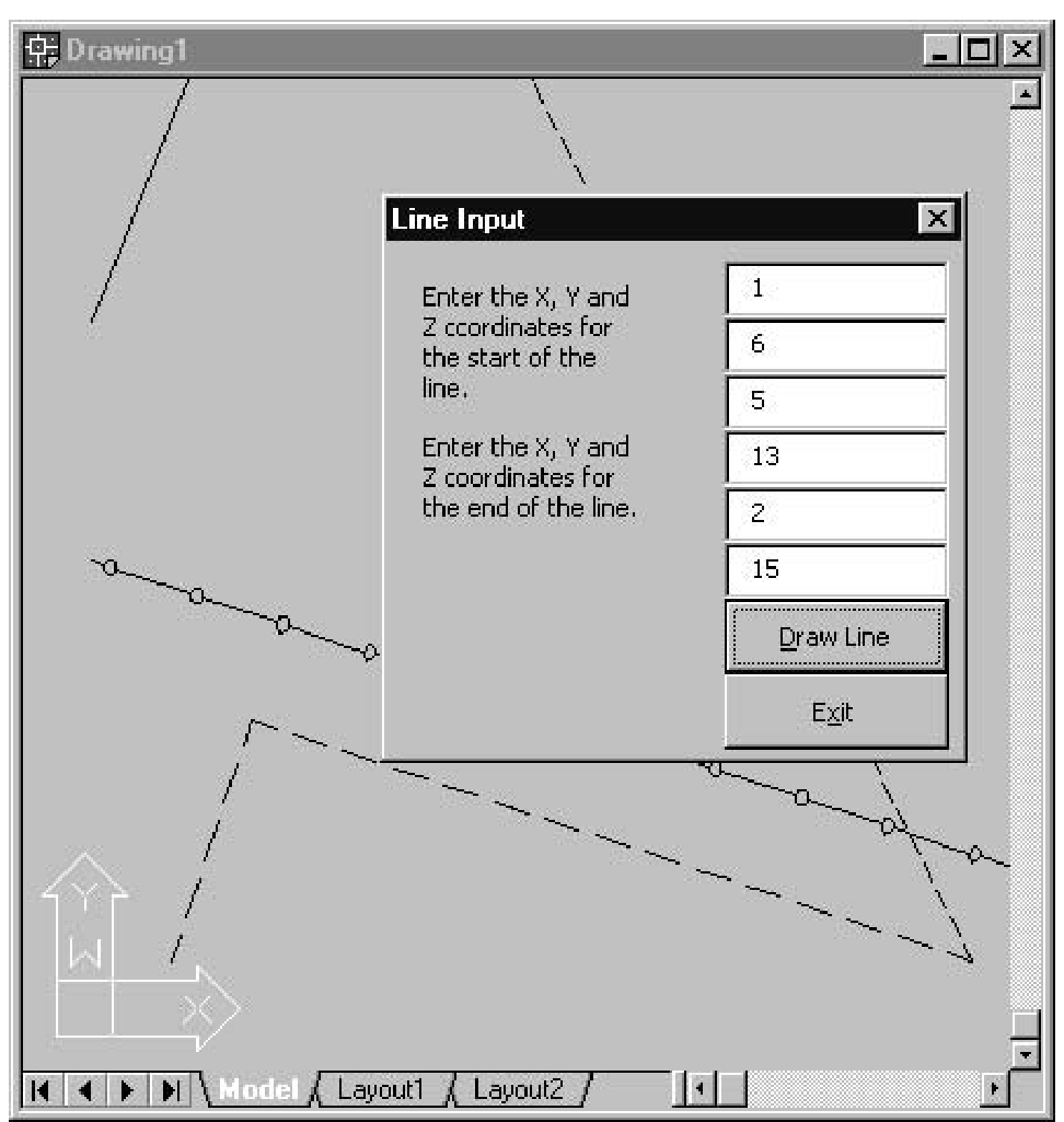 Drawing Lines In Userform : Setting linetypes macro izing line drawing autocad vba