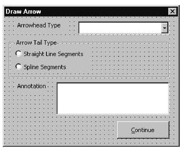Drawing Lines In Userform : Adding text to arrows creating drawings with