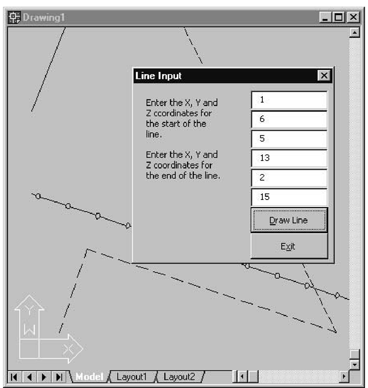 Drawing Lines In Autocad Using Coordinates : Setting linetypes macro izing line drawing autocad vba
