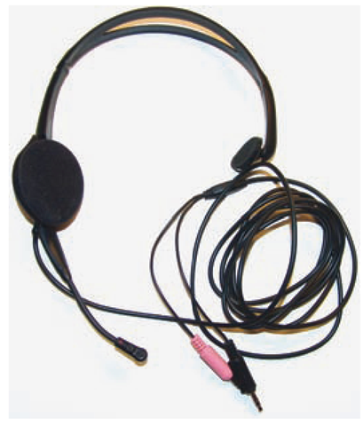 Headphones such as these, with a built-in microphone, are used more frequently than microphones alone for voice recognition purposes