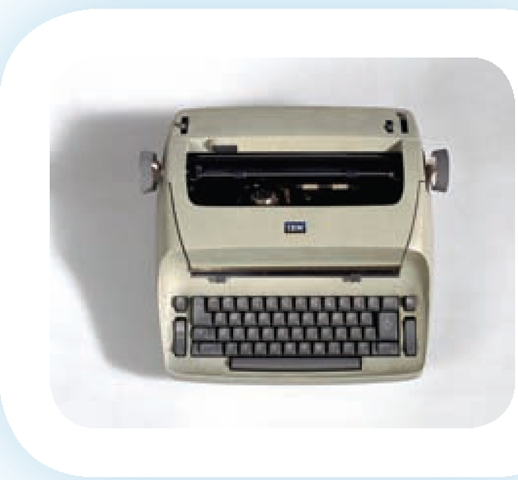 The IBM Selectric provided font choices and sizes that were not available on other typewriters.