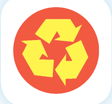 This symbol can be printed on documents created with recycled paper.