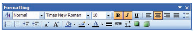 If you have used Microsoft Word, you are already familiar with the Formatting toolbar in Publisher.