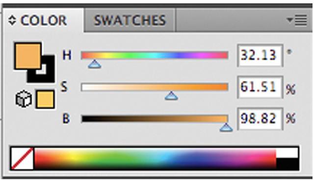Illustrator's Color Palette.