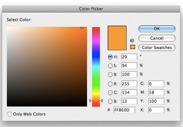 Illustrator's Color Picker.