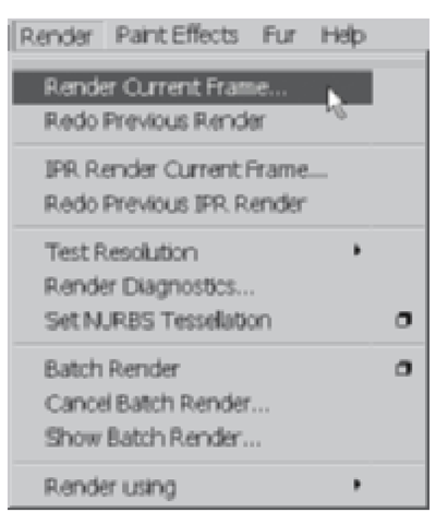 Render current frame