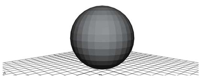 Faceted shaded sphere