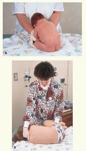 Fundamentals of pediatric nursing pediatric nursing part 4 a positioning an infant for lumbar puncture b positioning a young pronofoot35fo Choice Image