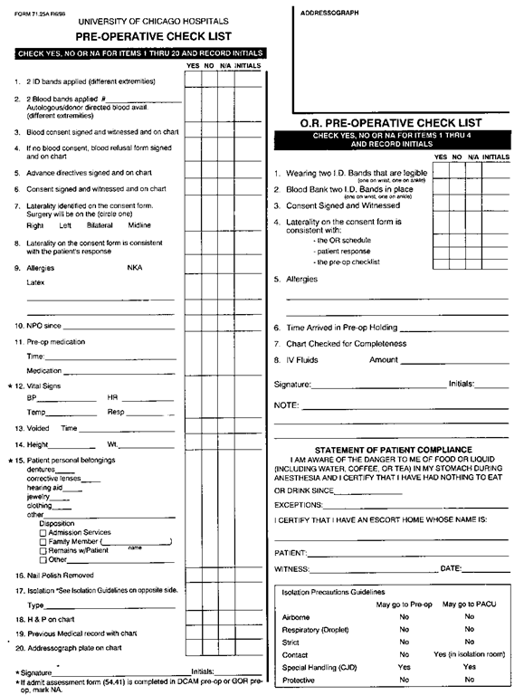 Preoperative and postoperative care client care nursing for Preoperative evaluation template